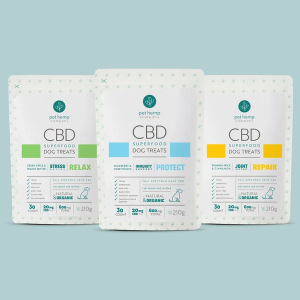 Bundle & Save: CBD Dog Treats – RELAX Stress Relief + REPAIR Joint Support + PROTECT Immunity Support