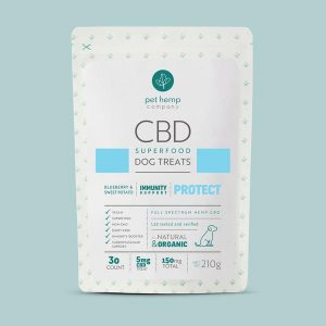 CBD Dog Treats – PROTECT: Immunity Support – Blueberry & Sweet Potato