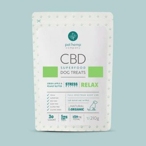 CBD Dog Treats – RELAX: Anxiety & Stress Relief – Green Apple & Peanut Butter
