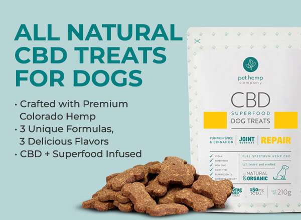 All Natural CBD Treats for Dogs Crafted with Premium Colorado Hemp